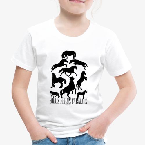 Equus Ferus Caballus Black - Lasten premium t-paita