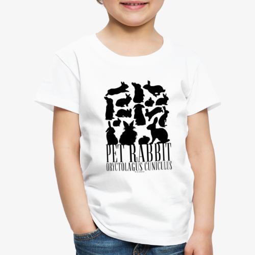 Pet Rabbit Black - Lasten premium t-paita