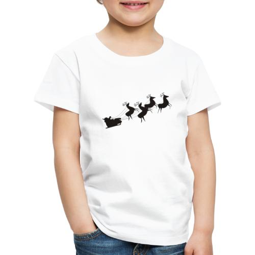 Weihnachtsmann auf Schlitten - Kinder Premium T-Shirt