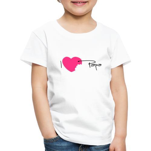 I love Papa 13 Vecto - T-shirt Premium Enfant