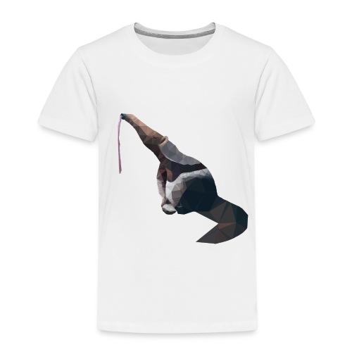 Lowpoly Ameisenbär mit rausgestreckter Zunge - Kinder Premium T-Shirt