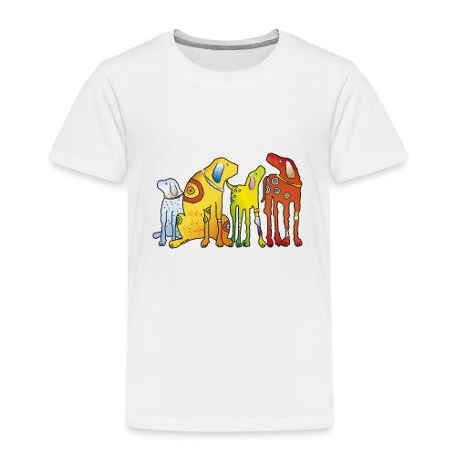 Hunde Meute Pinscher beste Freunde treues Haustier - Kids' Premium T-Shirt