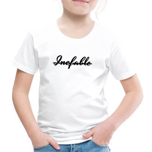 Inefable Tachado Negro. - Camiseta premium niño