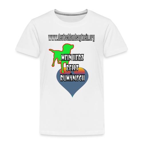 Herz bellt rumänisch - Kinder Premium T-Shirt