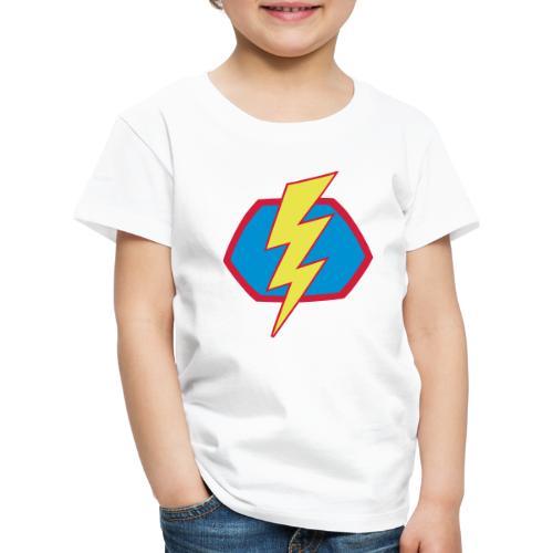 Superhelden Superhero Comic Blitz Symbol - Kinder Premium T-Shirt