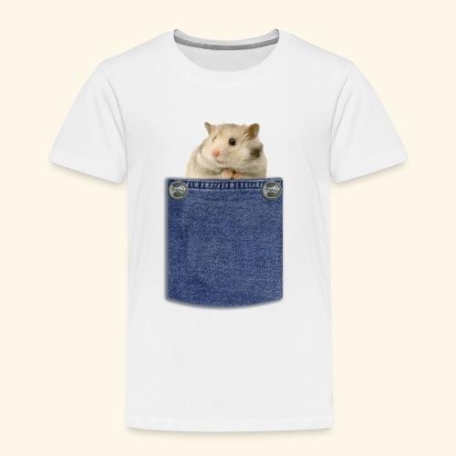 hamster in the poket - Maglietta Premium per bambini