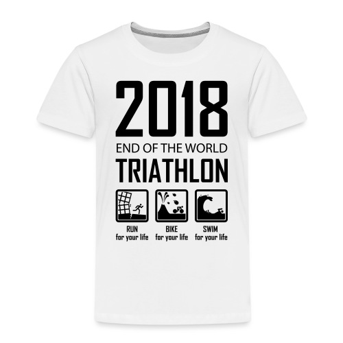 2018 End of the World Triathlon - Kinderen Premium T-shirt