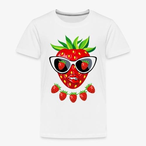 Süße Erdbeere Kussmund Sonnenbrille 23 - Kinder Premium T-Shirt