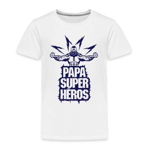 papa super heros eclair muscle bodybuild - T-shirt Premium Enfant