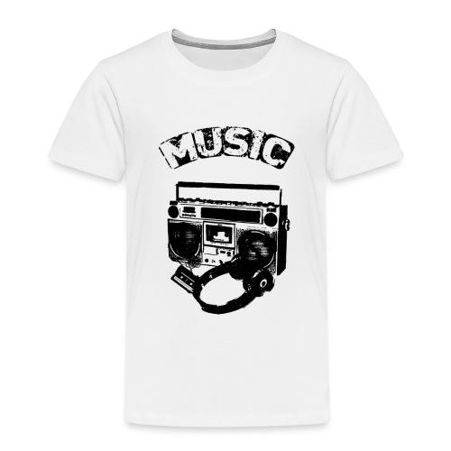 musik1 - Børne premium T-shirt