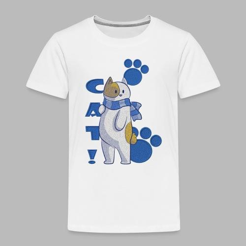 Cute cat with scarf, funny cat with scarf. - Camiseta premium niño