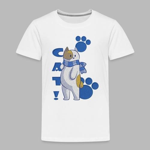 gato lindo con bufada, gato divertido - Camiseta premium niño