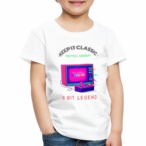 keep it classic 8bit gamer retro gaming old school - Kinder Premium T-Shirt