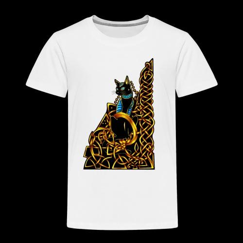 Celtic Cat - sitting - Kids' Premium T-Shirt