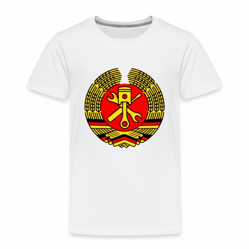 DDR Tuning Coat of Arms 3c (+ Your Text) - Kids' Premium T-Shirt