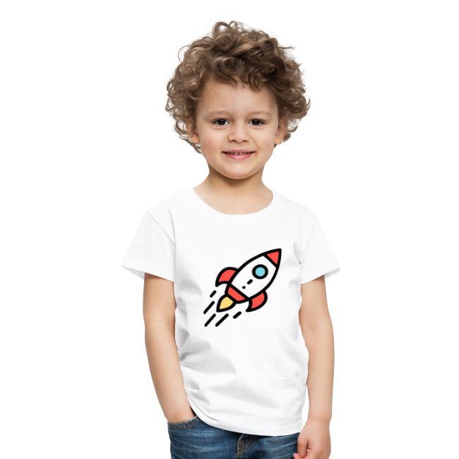 huge discount e95c3 2e727 T-Shirt selber gestalten Ideen Rakete | Kinder Premium T-Shirt
