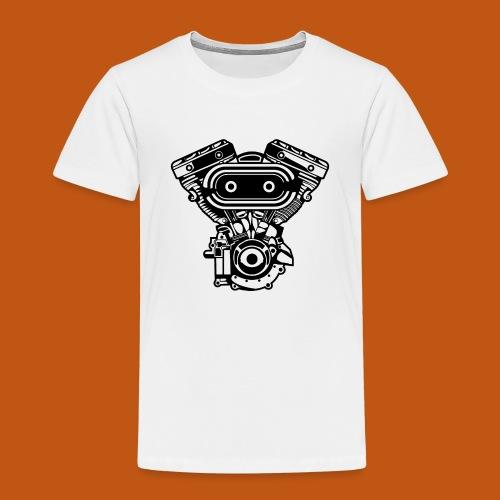 Motorrad Motor / Engine 02_schwarz - Kinder Premium T-Shirt