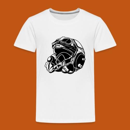 Pilotenhelm / Pilot Helmet 01_schwarz - Kinder Premium T-Shirt