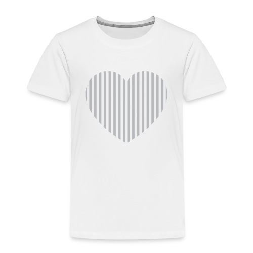 heart_striped.png - Kids' Premium T-Shirt