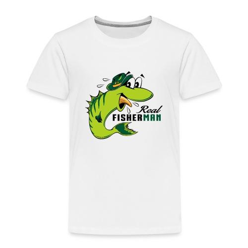 10-38 REAL FISHERMAN - TODELLINEN KALASTAJA - Lasten premium t-paita