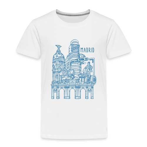 MADRID COLLAGE AZUL - Camiseta premium niño