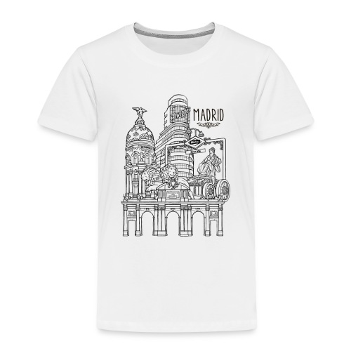 MADRID COLLAGE NEGRO - Camiseta premium niño