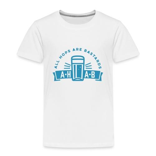 ahab logo black ai - Kinder Premium T-Shirt