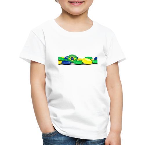 Encontro Bandeira do Brasil - Kids' Premium T-Shirt