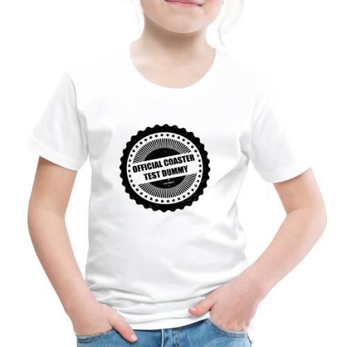 Mannequin d'essai officiel de montagnes russes - T-shirt Premium Enfant