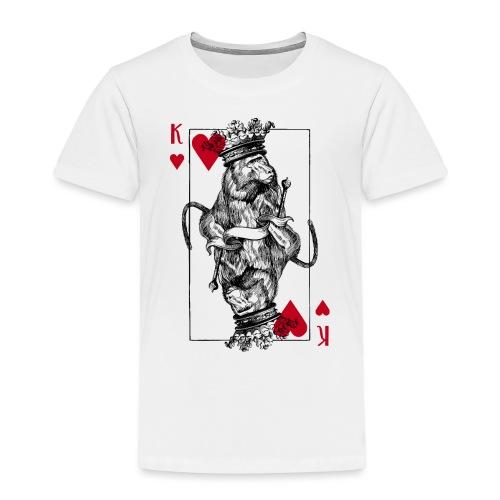 Herz Affenkönig - Kinder Premium T-Shirt