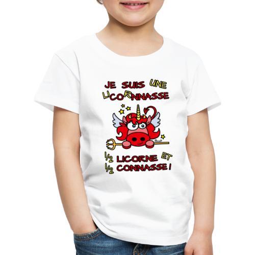 LicorNASSE Moitié Licorne Moitié Connasse - T-shirt Premium Enfant