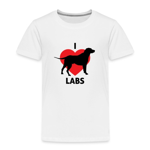I love labradors | Best gifts for dog lovers - Kinderen Premium T-shirt