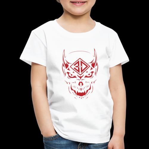 devil skull red - T-shirt Premium Enfant