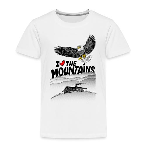 I love The Mountains Adelaar - Kinderen Premium T-shirt