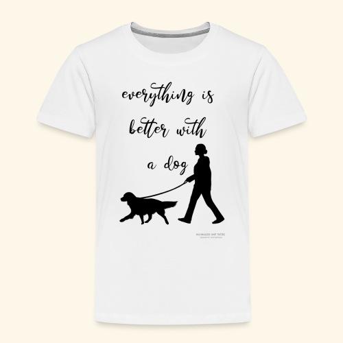 Dog walking - Kinder Premium T-Shirt
