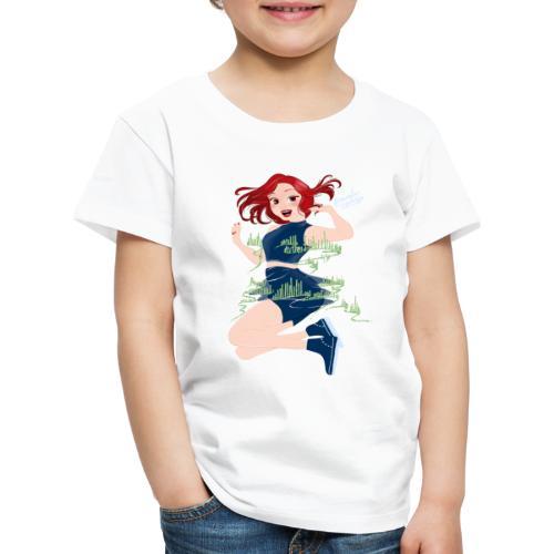 Fille dansant Northern Lights - T-shirt Premium Enfant
