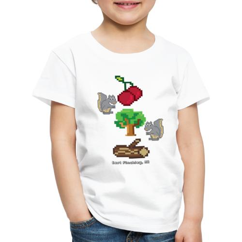 8 Bit Style Cherry Tree Wood Graphic - Kids' Premium T-Shirt
