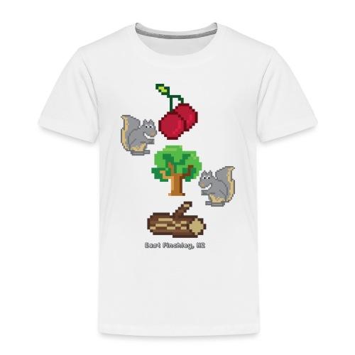 8 Bit Style Cherry Tree Wood Graphic - Kids' Premium T-Shirt