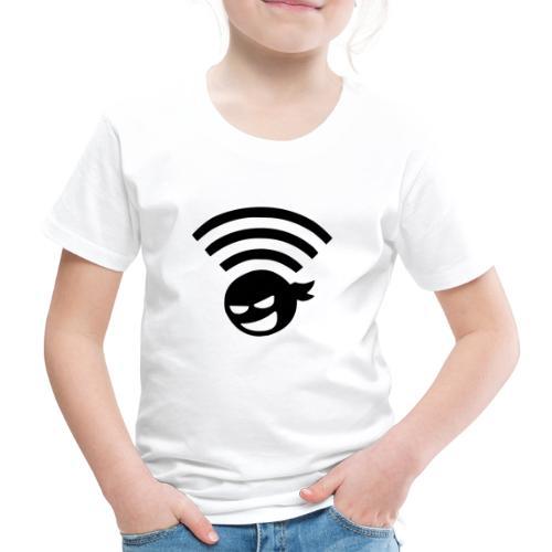 WiFi Wlan Ninja Symbol - Kinder Premium T-Shirt