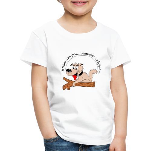 Chien à la folie - T-shirt Premium Enfant