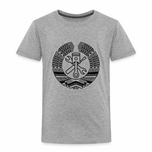 DDR Tuning Coat of Arms 1c (+ Your Text) - Kids' Premium T-Shirt