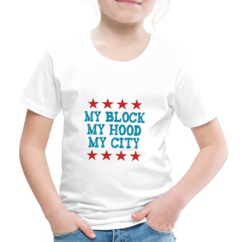 My Block My Hood My City blau - Kinder Premium T-Shirt