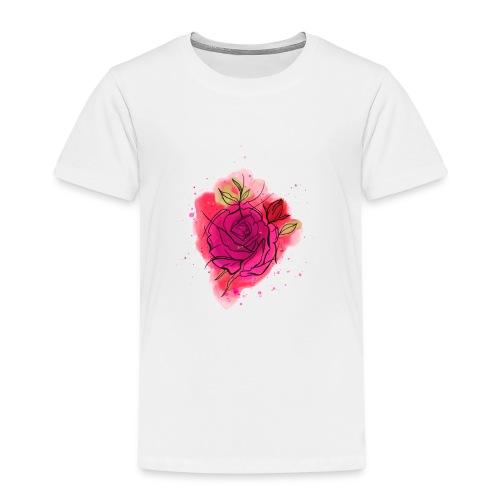 Rosen T-shirt Geschenk Aquarell - Kinder Premium T-Shirt