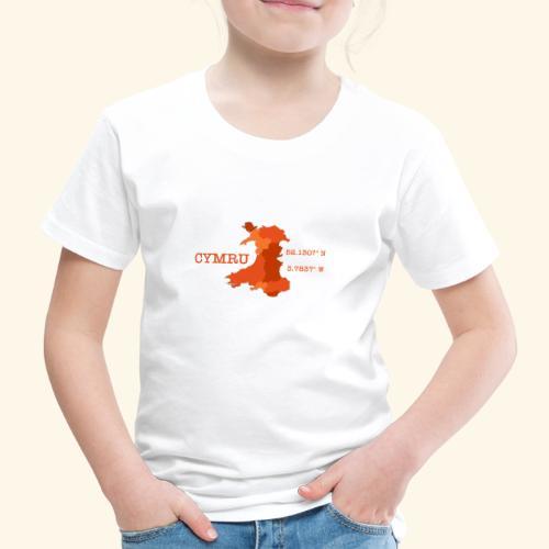 Cymru - Latitude / Longitude - Kids' Premium T-Shirt