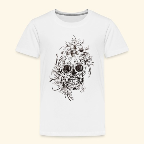 SkullDrawings - Premium-T-shirt barn