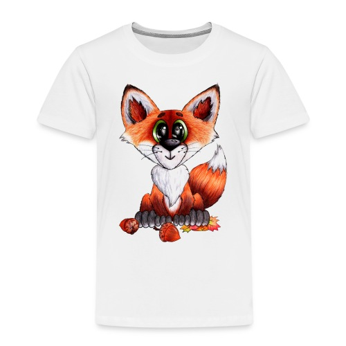 llwynogyn - a little red fox - Børne premium T-shirt