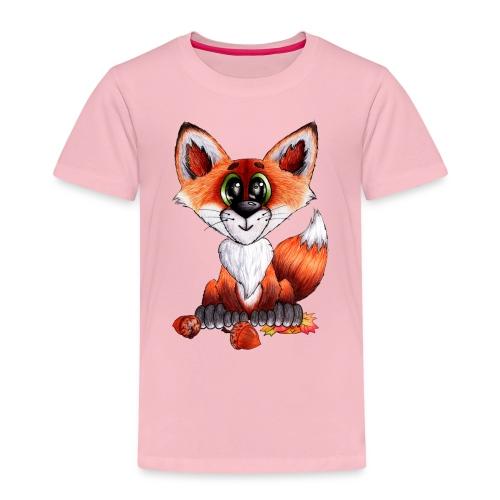 llwynogyn - a little red fox - Lasten premium t-paita
