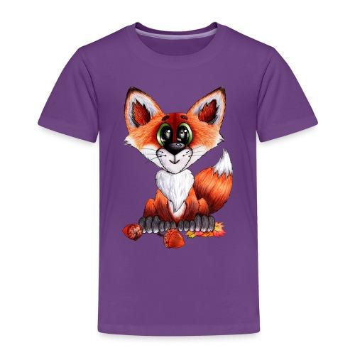 llwynogyn - a little red fox - Børne premium T-shirt