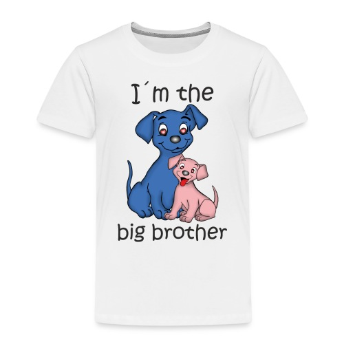 I'm the Big Brother puppy B - Kids' Premium T-Shirt