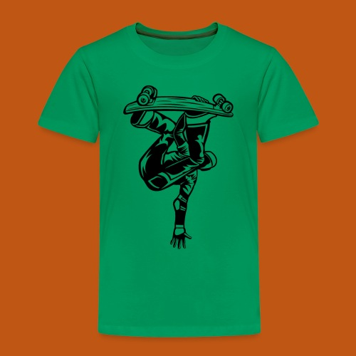 Skater / Skateboarder 03_schwarz - Kinder Premium T-Shirt